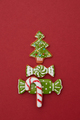 Christmas card with cookies tree - PhotoDune Item for Sale