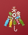 Beautiful Christmas tree made of gingerbread cookies - PhotoDune Item for Sale