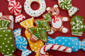 Christmas cookies background. - PhotoDune Item for Sale