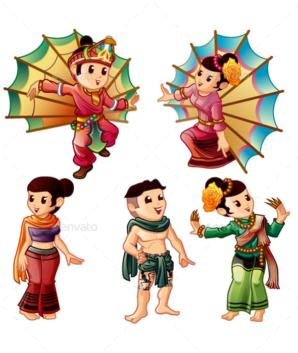 Northern Thai - People Characters