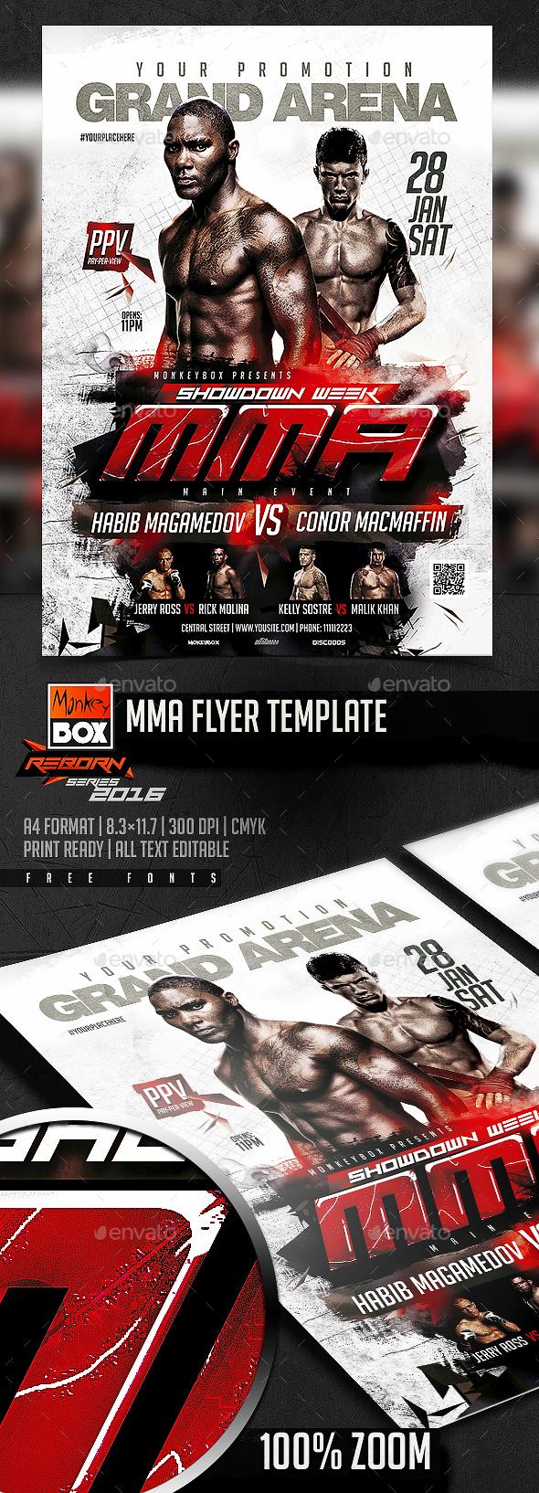 MMA Flyer Template - Flyers Print Templates