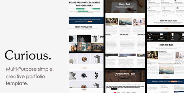 Curious – Agency, Freelancer and Personal Portfolio Template.