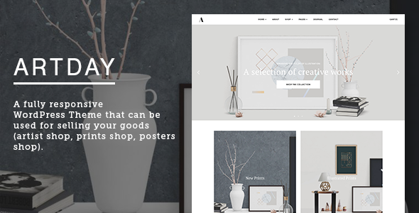 Artday - Creative Artist WordPress Shop - WooCommerce eCommerce
