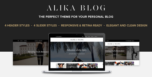 Alika - Personal WordPress Blog Theme - Blog / Magazine WordPress
