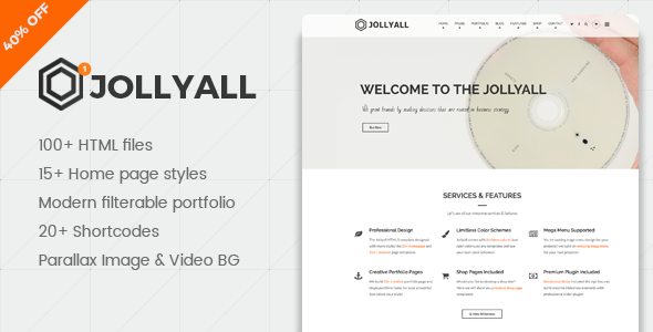 Jollyall – The Multi-Purpose Responsive HTML5 Template
