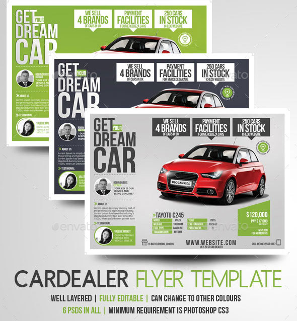 Car Dealer Flyer Magazine Ad by BloganKids – Car Ad Template