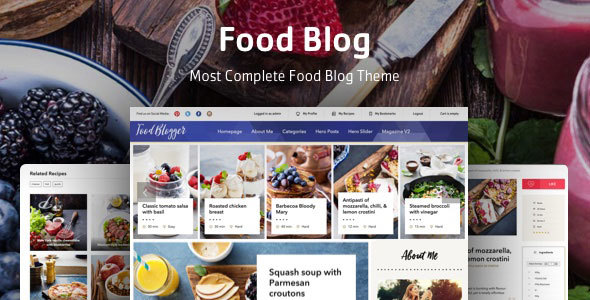 Food blog templates from themeforest food blog wordpress theme for personal food recipe blog forumfinder Choice Image