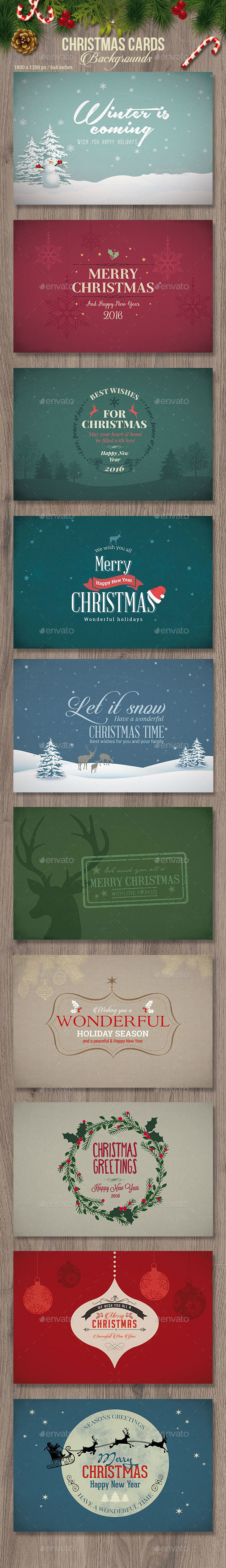 Christmas Cards / Backgrounds - Holiday Greeting Cards