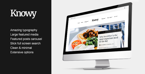 Knowy – Clean & Sleek Magazine Blogging Theme