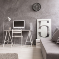Grey office with computer and sofa - PhotoDune Item for Sale