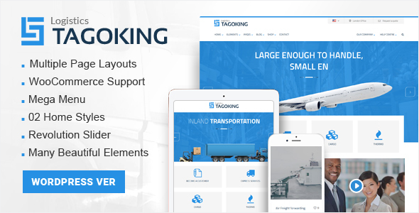 Tagoking – Logistics WordPress theme