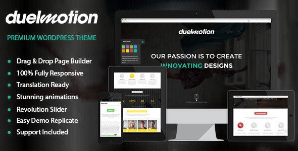 Duelmotion - Responsive Onepage Parallax Theme - Creative WordPress