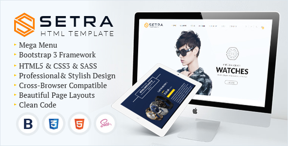 Setra – e-Commerce Website Template
