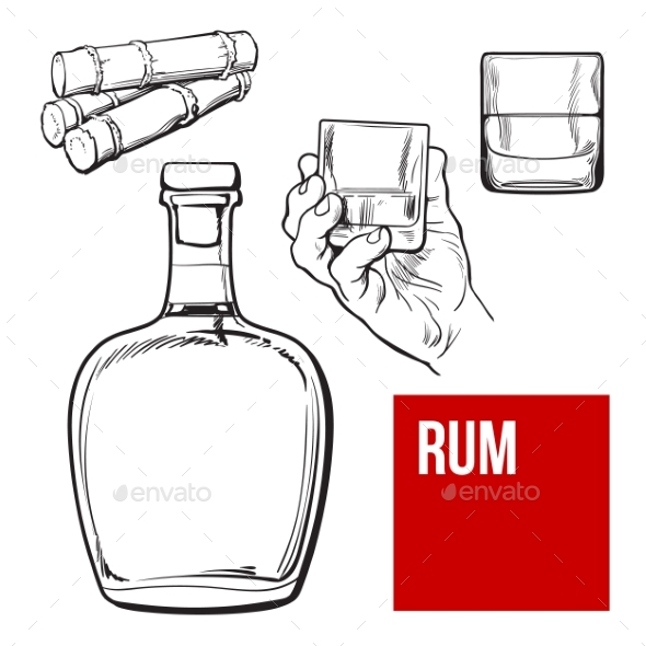 Rum Set - Man-made Objects Objects