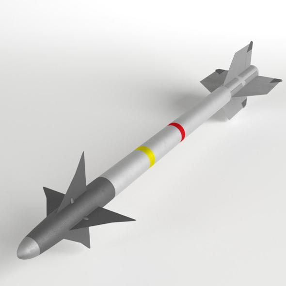 AIM-9L Sidewinder AAM Air-to-Air Missile - 3DOcean Item for Sale