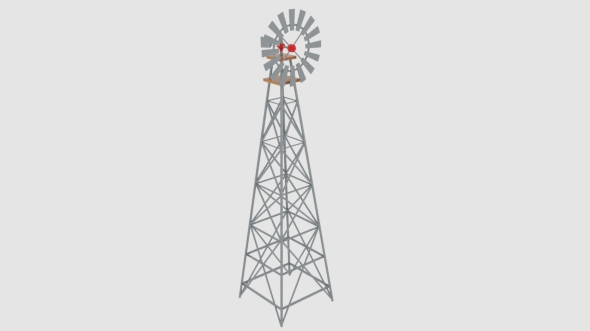 Wind Pump Nevadan Dessert - 3DOcean Item for Sale