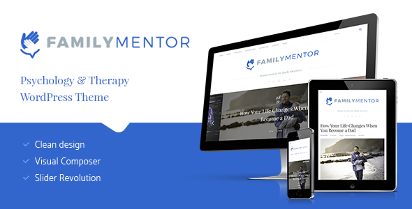 Family Mentor - Psychology & Therapy WordPress Theme