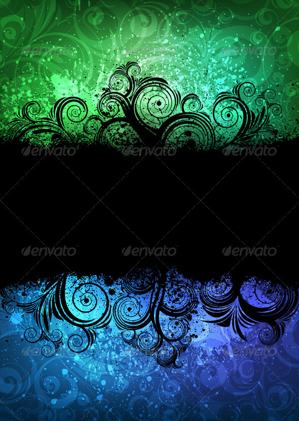 Ornamented banner - Backgrounds Decorative