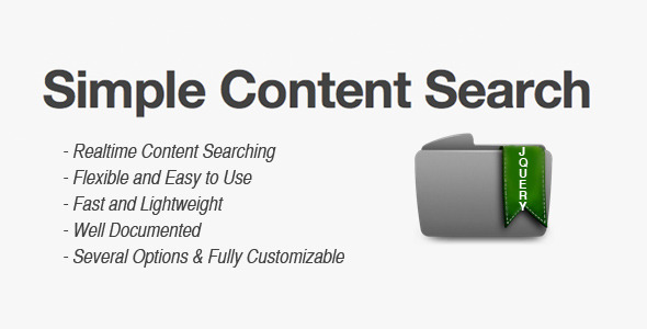 Simple Content Search - CodeCanyon Item for Sale