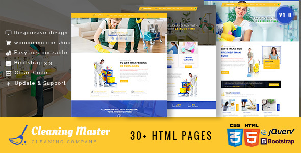 Clening Master – Cleaning Company HTML5 Template