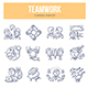 Teamwork Doodle Icons - GraphicRiver Item for Sale