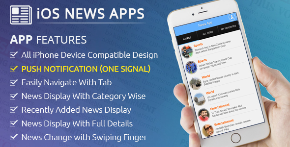 iOS News App - CodeCanyon Item for Sale
