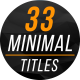 Minimal Titles & Lower Thirds 3 - VideoHive Item for Sale