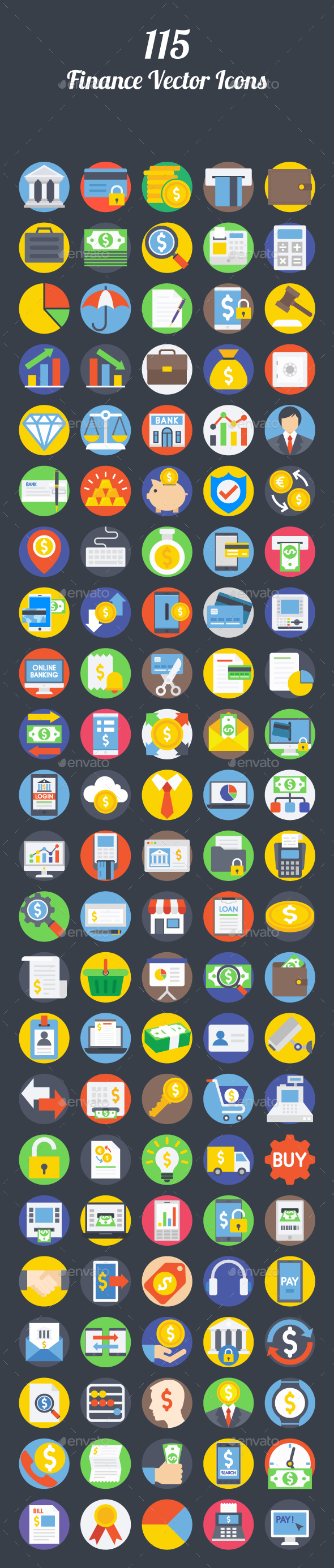 115 Finance Vector Icons - Icons