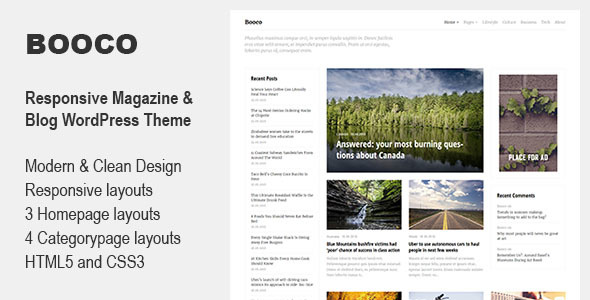 Booco – Responsive Magazine & Blog WordPress Theme Free Download