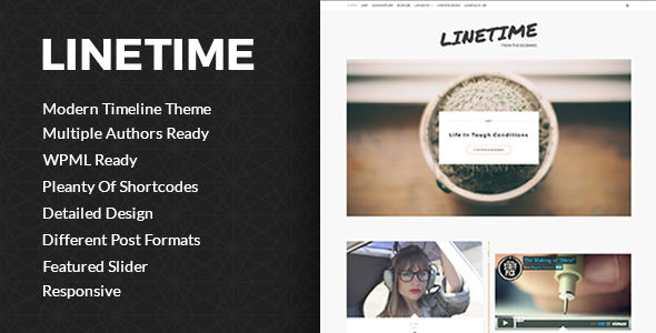 LineTime | Modern Timeline WordPress Blog Theme - Blog / Magazine WordPress