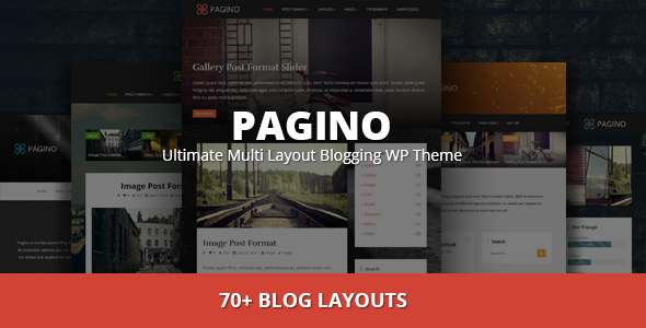 Pagino | Ultimate Multi Layout Blogging WP Theme - Blog / Magazine WordPress