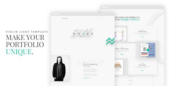 Violin Light - Portfolio HTML5/CSS3 Template