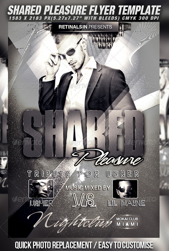 Shared Pleasure Flyer Template - Clubs & Parties Events