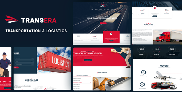 Logistics WordPress Theme | Logistics WP Transera (Logistics, Transportation, Cargo)