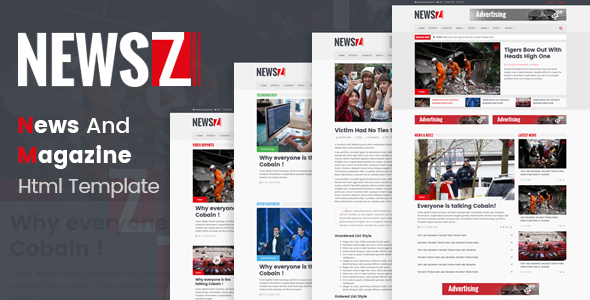 NewsZ – News & Magazine Html Template