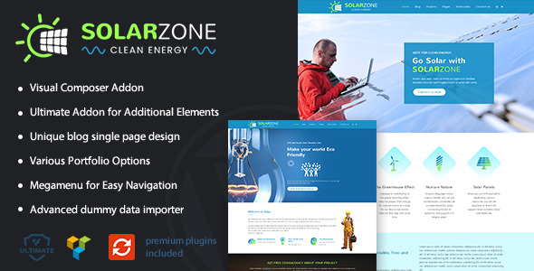 Solar Energy | Clean Energy WordPress Theme - Education WordPress