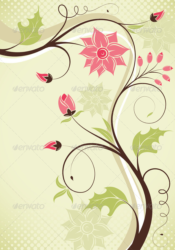 Floral border - Borders Decorative