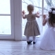 Children Looking at Window, Two Little Girls Looking Through Window. - VideoHive Item for Sale