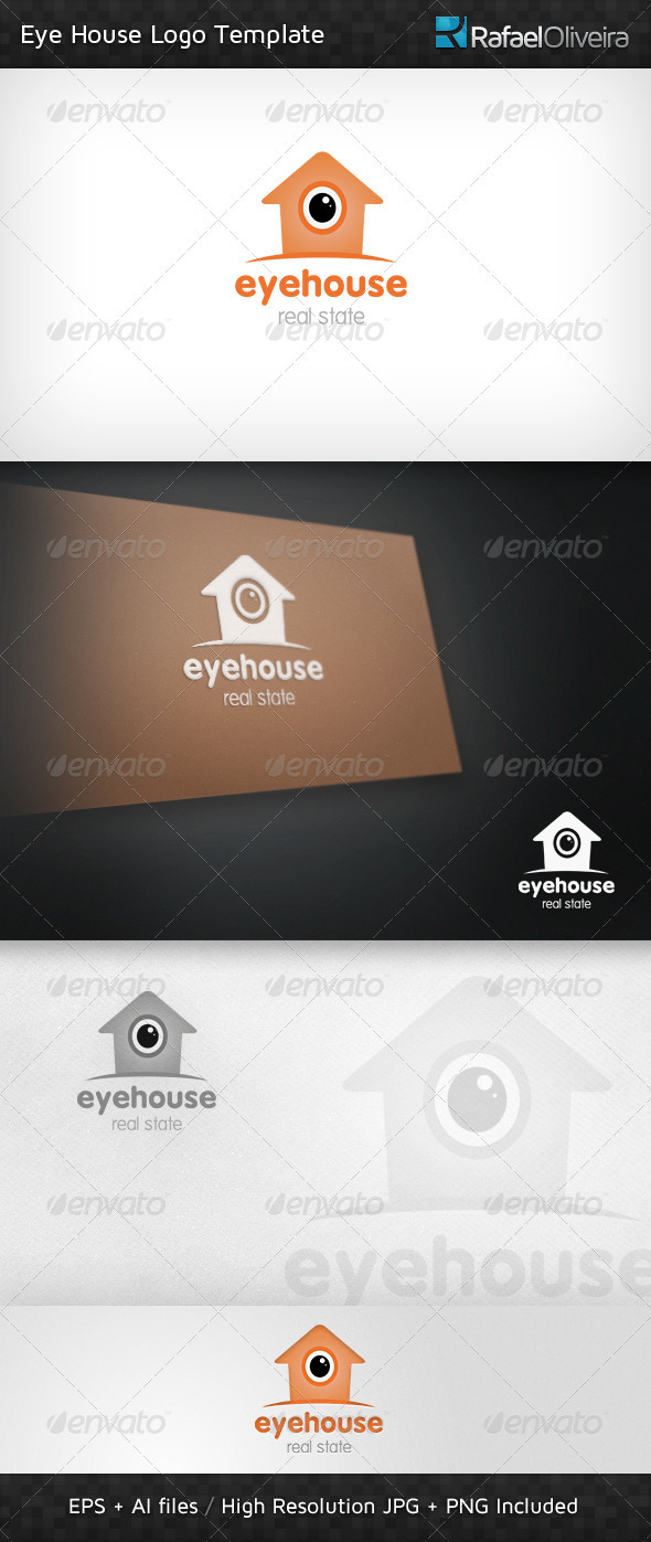 Eye House Logo Template - Buildings Logo Templates