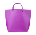 Front view of purple gift bag