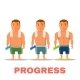Cartoon Guy Fit Progress - GraphicRiver Item for Sale