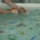 Little Baby Swiming Under the Water in Child Pool - VideoHive Item for Sale