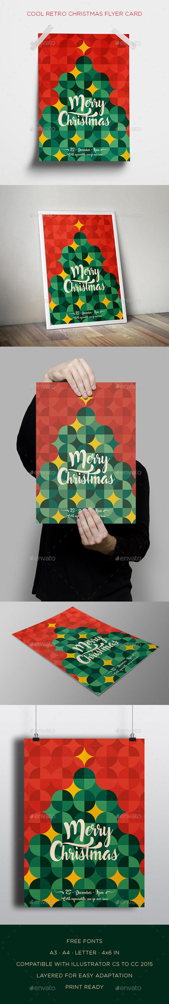 Cool Retro Christmas Flyer Card