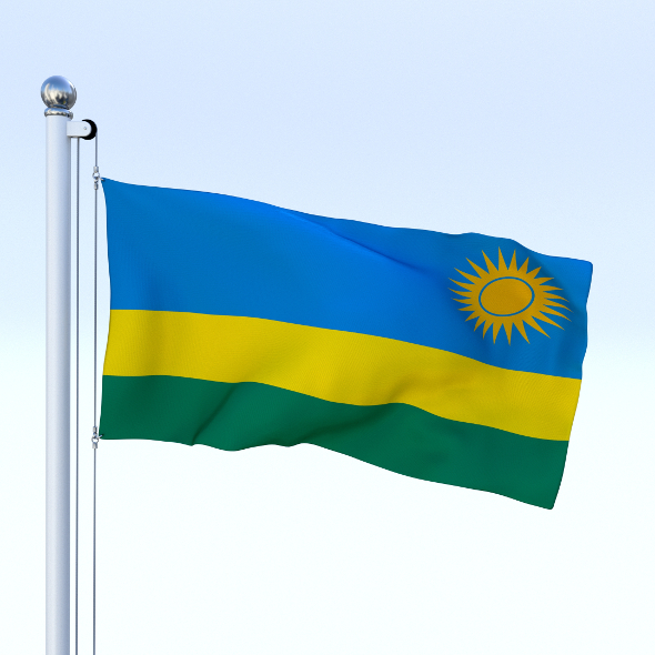 Animated Rwanda Flag - 3DOcean Item for Sale