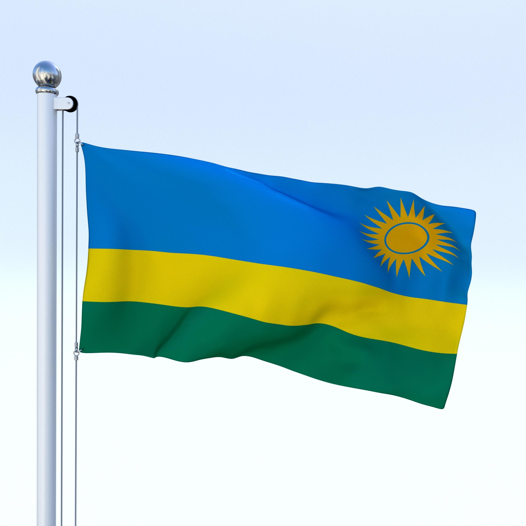 Animated Rwanda Flag By Dragosburian DOcean - Rwanda flag