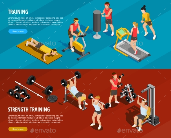 Sports Training Horizontal Banners - Sports/Activity Conceptual