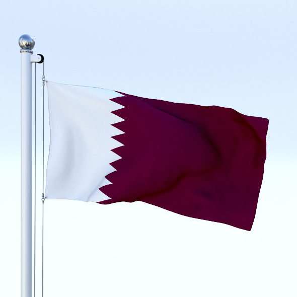 Animated Qatar Flag - 3DOcean Item for Sale