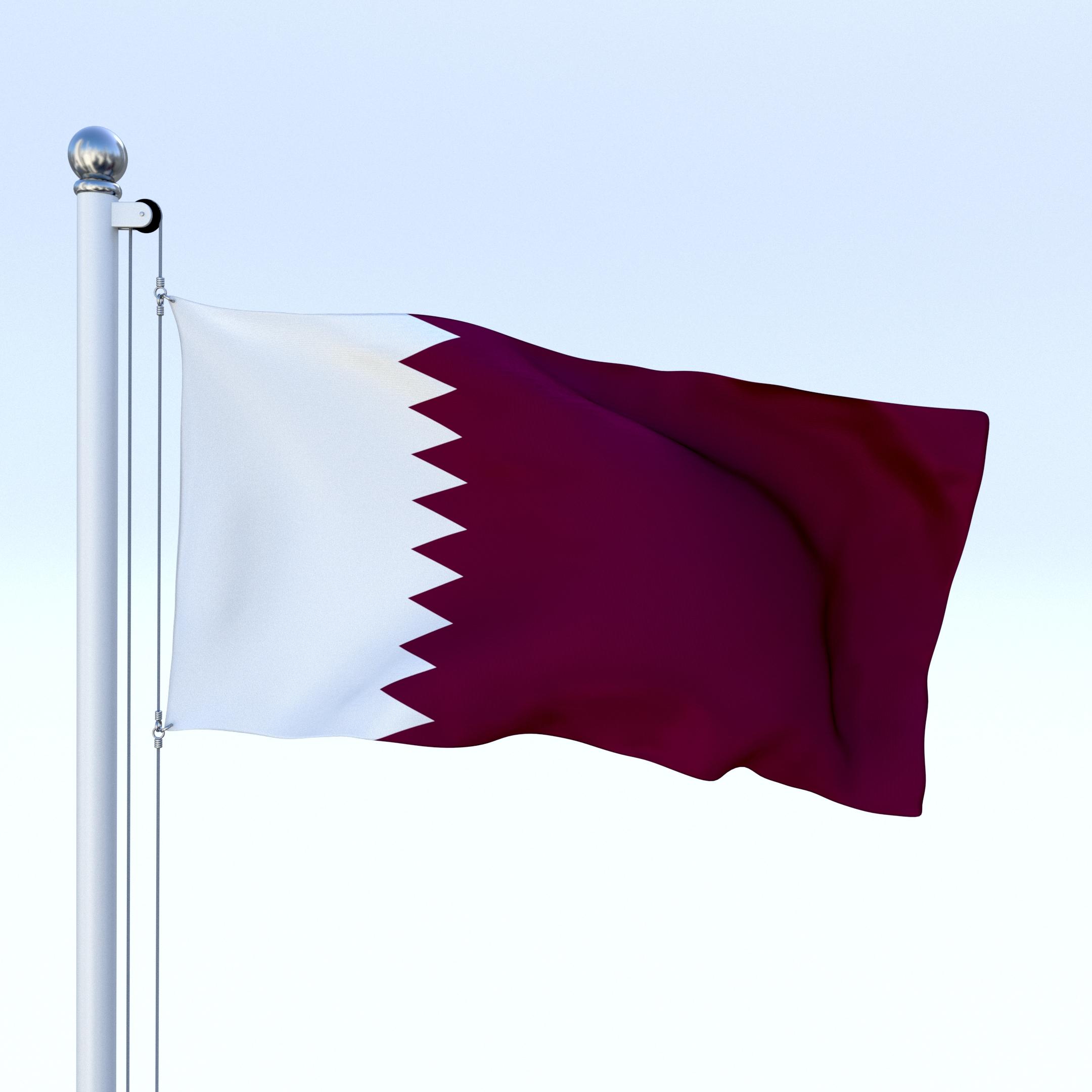 Animated Qatar Flag By Dragosburian 3docean