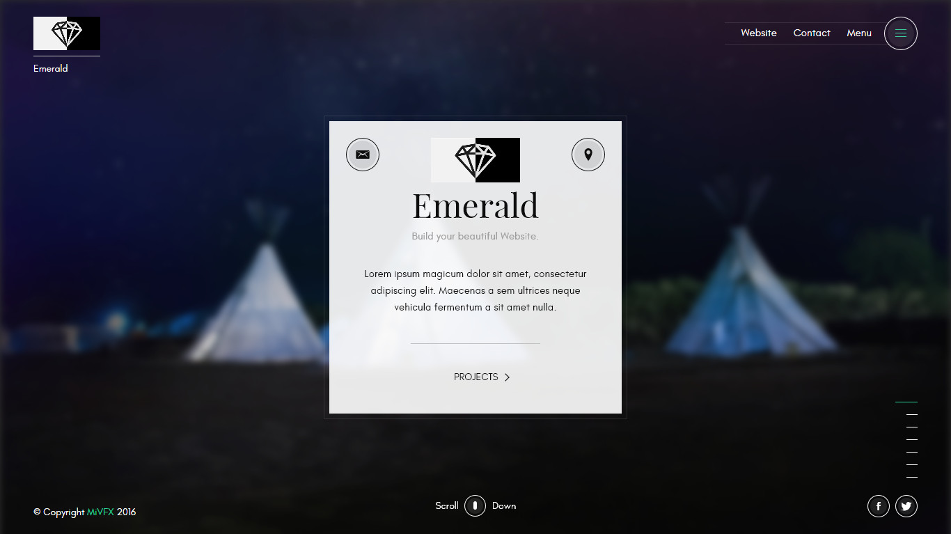 EMERALD a creative portfolio HTML template by mivfx | ThemeForest on creative resume designs, creative postcards, creative strategy, creative posters, vintage retro wallpaper design, creative advertising, responsive html design, creative typography, htmltable data entry design, creative lighting,
