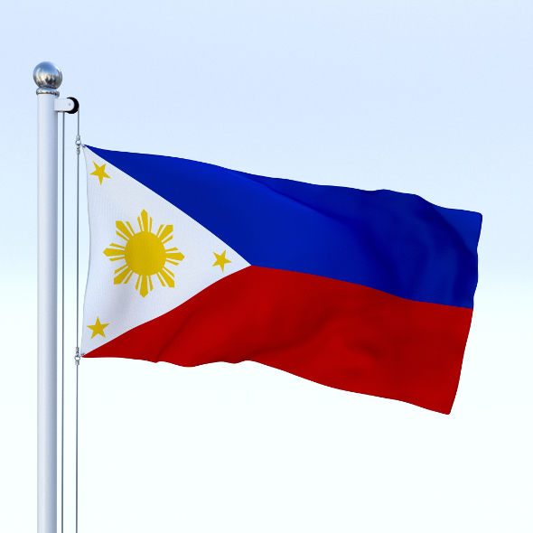 Animated Philippines Flag - 3DOcean Item for Sale